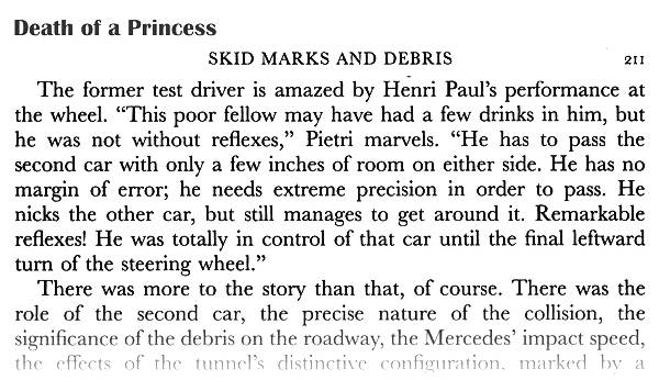Death Of A Princess Jean Pietri testifies that Henri Paul is an excellent driver